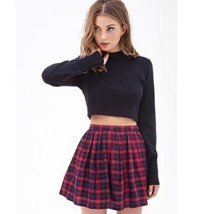 black forever 21 plaid skirt on Poshmark