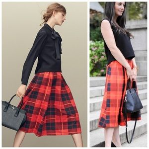 Kate Spade Woodland Plaid Skirt size 4