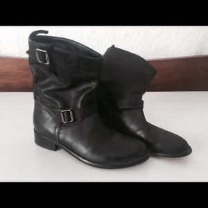 Belstaff Shoes - Belstaff women's leather Bedford boot, size 8.5