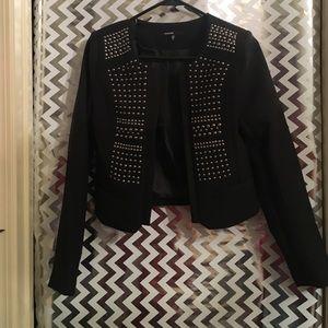 Love culture studded blazer
