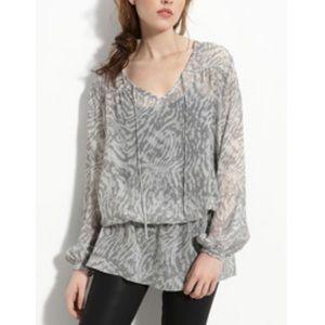 Haute Hippie Tops - Haute Hippie 100% silk chiffon blouse tunic