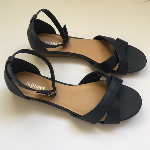 Old Navy Navy Blue Ankle Strap Sandals