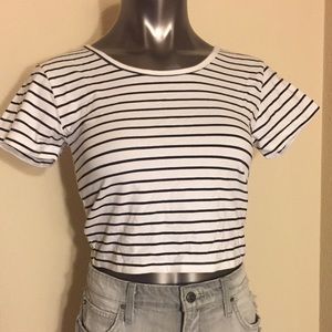 Fifth Sun Tops - Fifth Sun Stripe Crop Top
