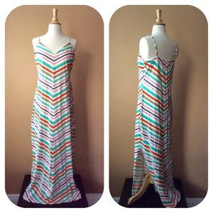 MAXI DRESS French Connection Candy Stripes Orange