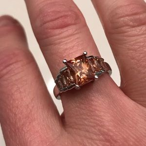 Jewelry - Faux Morganite & Sterling Silver Ring