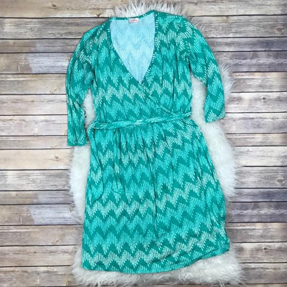 badd7399ca2 Stitch Fix Pixley Wrap Dress. M 586f19bfbcd4a7475f019240
