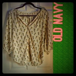 Old Navy Birds of a Feather Blouse (sz xs)