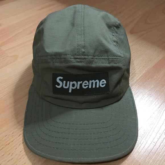 1049a7d805e Supreme  Vintage Olive Green Camp Cap. M 586f1d143c6f9fe72b01a5ee. Other  Accessories ...