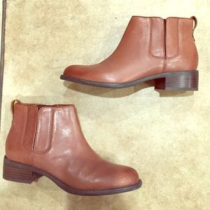 Franco Sarto Brown Leather Ankle Boots!