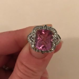Jewelry - Pink Amethyst Stone Ring .925