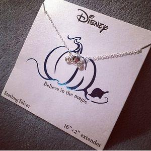 Disney Cinderella Carriage 925 Silver Necklace