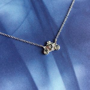 Disney Cinderella Carriage Silver Necklace