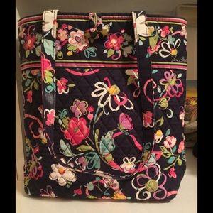 Vera Bradley Handbags - Large Tote Bag- Blue Ribbons pattern