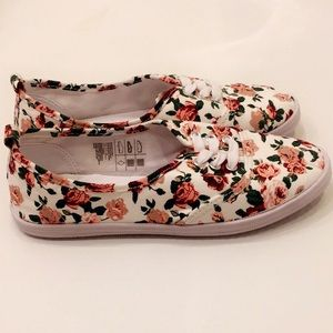 H&M floral canvas sneakers