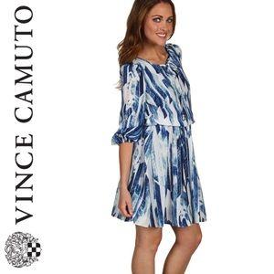 VINCE CAMUTO Print Keyhole Dress