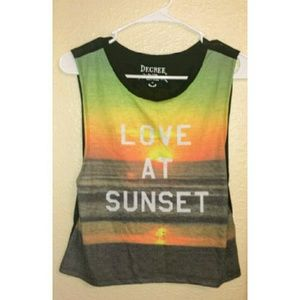 Decree Tops - 💜Sunset Muscle Tank