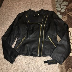 Guess Jackets & Blazers - New Guess faux leather jacket size small