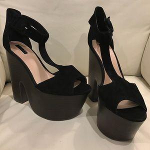 Topshop T-strap Platform Sandal Heels