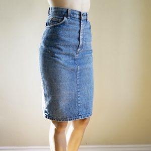Levi's vintage high waisted denim pencil skirt