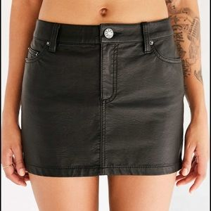 NEVER WORN BDG vegan leather skirt