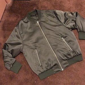 ZARA silky bomber jacket
