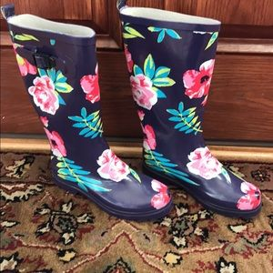 Floral rain boots brand new
