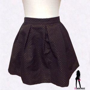 AQUA Skater Style Black Skirt M