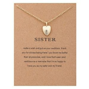 Jewelry - Sparkling friendship sister gold plated Pendant ne