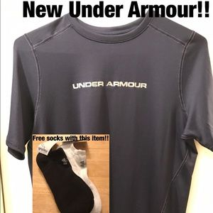 Under Armour Other - Free socks inclu! Brand new Under Armour T shirt