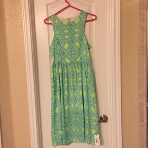 Green Everly Strapless Zip Back Dress