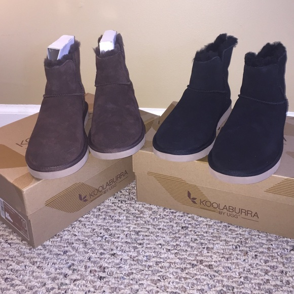 d49a67eabaa 🌟ONE LEFT🌟🌟Koolaburra UGG Fur mini boots 10 NWT NWT