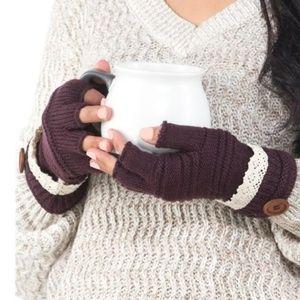 Accessories - LAST PAIR!🎉HP🎉 Crochet Fingerless Gloves