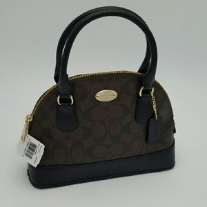 COACH Mini Cora Domed Satchel Handbag