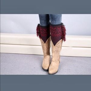 Accessories - 🌺bogo🌺Black and red fringe  style boot cuffs