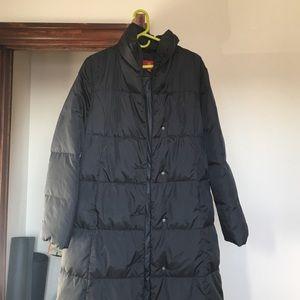 Cole Haan long black puffy winter coat