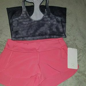 Lululemon speed shorts nwt 6 +snowy owl crb guc