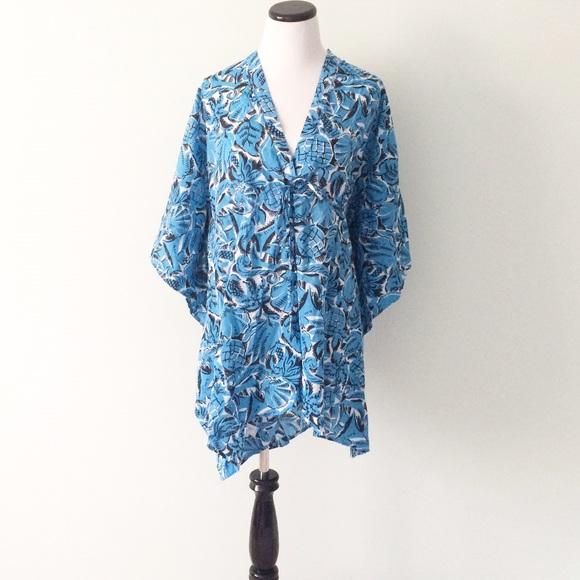 0da367b6ba LOFT Swim | Ann Taylor Beach Blue Suit Coverup | Poshmark