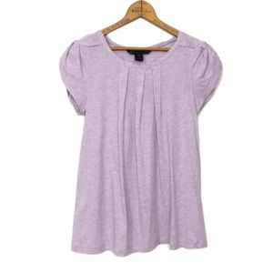 MARC BY MARC JACOBS heathered purple gathered tee