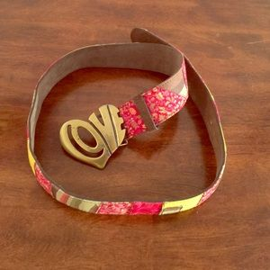 Lucky Brand Accessories - Lucky Brand Multi-Fabric Buckle Belt