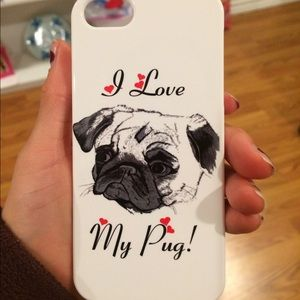 redbubble Other - Red bubble I love my pug phone case iPhone 5s