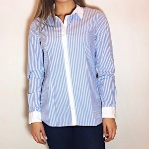 Equipment Tops - EQUIPMENT Pinstripe Button Down Shirt