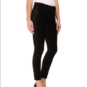 7 For All Mankind Pants - 7 FOR ALL MANKIND THE ANKLE SKINNY BLACK VELVET 24