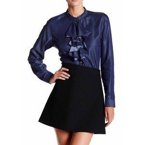 Nanette Lepore Tops - Nanette Lepore Cascading Ruffle Denim Shirt