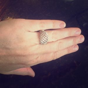 Jewelry - Silver Basket Weave Ring