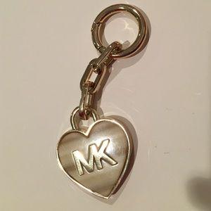 MK heart keychain
