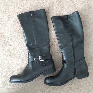Black JustFab Jalisah riding boots size 9