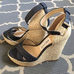 Vince Camuto Shoes - LOWEST! Vince Camuto Denim Espadrilles Wedges