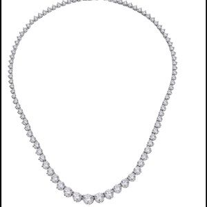 "Myia Passiello Jewelry - GRADUATED SWAROVSKI ZIRCONIA 18"" 21.25 CARAT .925"