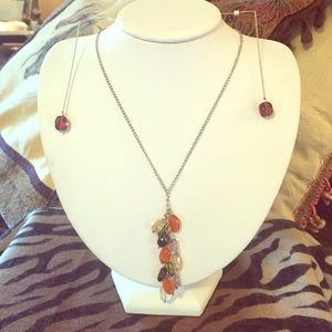 Jewelry - Natural Stone and Sterling Necklace/Earring Set