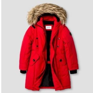 Stevies Other - NWOT Stevie's Faux Fur Parka in Red